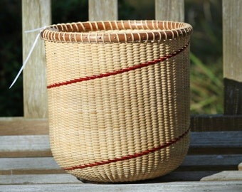 8-inch Tall Boy Nantucket-style basket with red detail