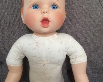 Vintage Porcelain Gerber Baby Doll With Cloth Torso