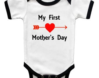 Short Sleeve Bodysuit - My First Mothers Day