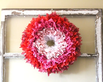 Ombre Tissue Paper Wreath