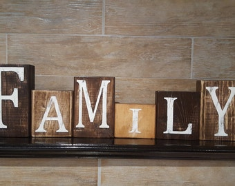 Wood Blocks Home Decor - Family