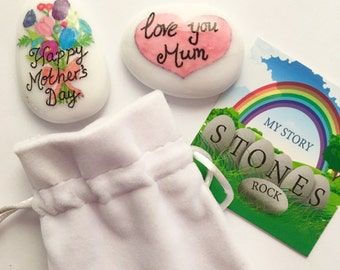 Mothers Day Gift, Keepsake, Stone, Momento, Present, Flowers, Special, Love you Mum, Mum Gift, Mummy, Present, Unique