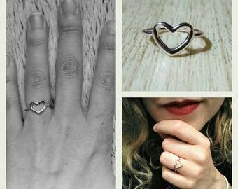 Super cute rose gold Heart Ring!