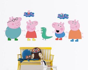Peppa Pig Wall Decal - Nursery Kids Wall Sticker | PP210