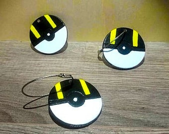 Pokeball hyper ball keychain