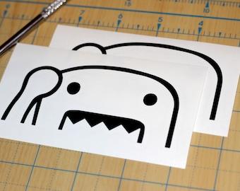 Domo Waving Vinyl Sticker | Domo Decal