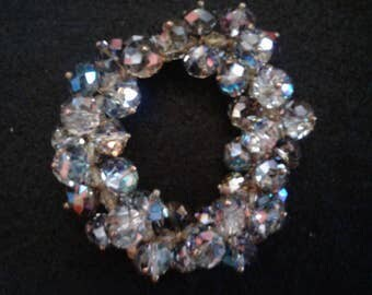 Magnificent Vintage Aurora Borealis Crystal Bracelet with Matching Earrings