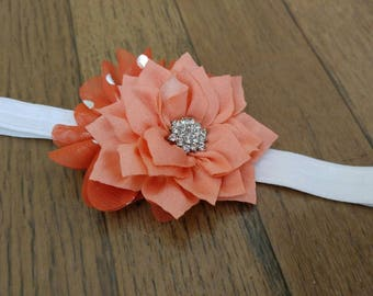Orange Crush infant headband