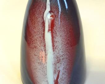 6) Multiple glazed Large ceramic vase