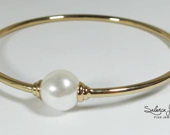 Bracelet fashion jewelry gold pearl - Wedding Gifts - Bridesmaids Gifts
