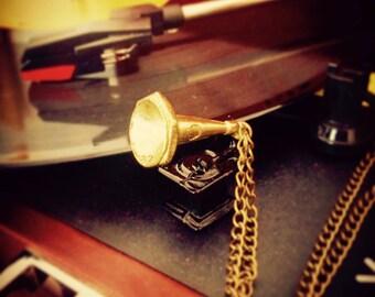 """Necklace sautoir """"His master's voice"""""""