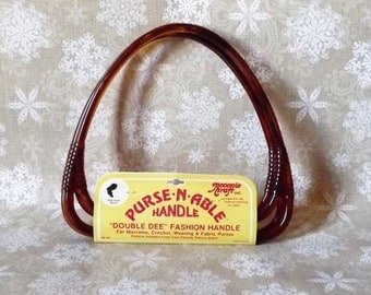Double Dee Purse Handles Bakelite, Plastic, Brown, Pair, Handbag, Craft Supply, Vintage, Vintage Purse, Accento Made, Bag Handles