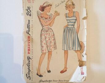 Vintage Dress Pattern, Simplicity Sewing Pattern, Sundress Pattern, 1950's Patterns, Vintage Patterns, Retro Patterns, Vintage Sewing