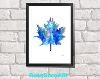 blue leaf printable sheet