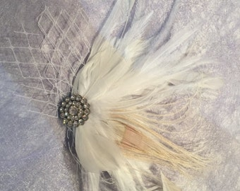 IVY - Bling & Feather Hair Piece