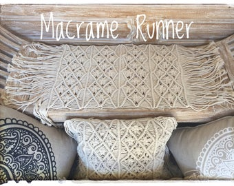 Macrame Boho Gypsy Table Runner