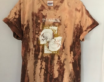 Custom Bleach dyed As I Lay Dying T-Shirt Large hardcore