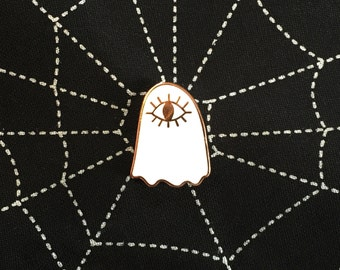 All-Seeing Ghost Copper Hard Enamel Pin