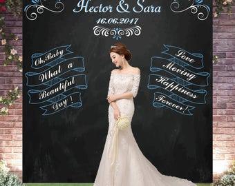 Wedding Backdropwedding Blackboardwedding Photocallwedding Chalkboard Banner Backdrop