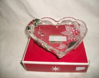 Vintage Mikasa Christmas Themed Holiday Bloom Heart Dish made in Germany