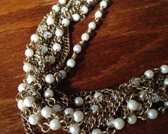 Vintage Multistrand Chain and Bead Necklace, Jewelry