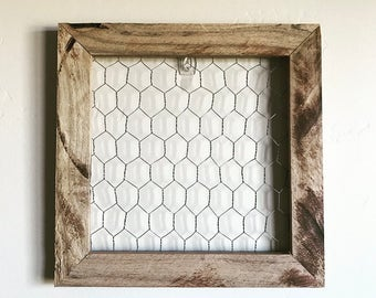 Farmhouse chicken wire frame