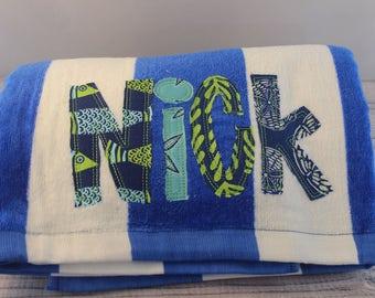 Kids Personalized Beach Towel, Custom Beach Towels, Personalized beach towel, beach towel, kids towel, Custom towel, Custom Towels