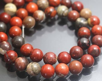 Apple Jasper Beads,4mm/6mm/8mm/10mm/12mm Smooth and Round Stone Beads,15 inches one starand