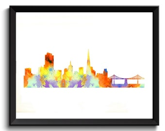 SF Artwork - San Francisco Poster, SF Wall Art, SF City Decor, instant download, San Francisco Cityscape, sf cityscape art, digital download