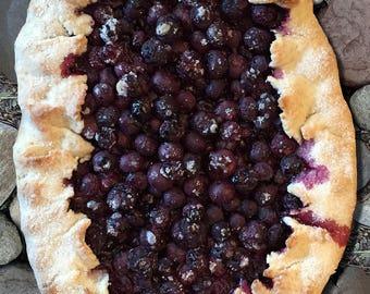Blueberry Tart Art Print, Kitchen Art Print, Dining room Art Print, Fine Art Print, Cafe Art, Food Art