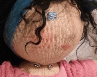 Doll waldorf 30cm hair Mongolia lamb