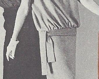 1960s Vintage Sewing Pattern B32-36 DRESS in JERSEY (R924)