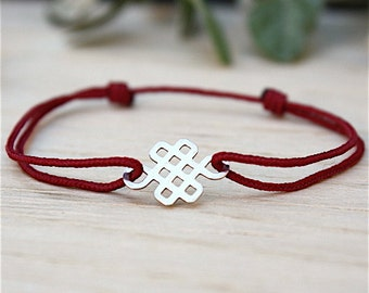 Bracelet cord choice and knot Chinese massive Silver 925
