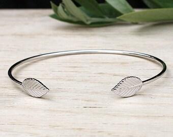 Bracelet 925 Silver leaf ring