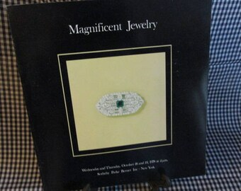 "Vintage Sotheby's Auction Cataloge ""Magnificent Jewelry"""