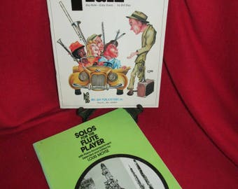 Vintage Sheet Music Books for Flute