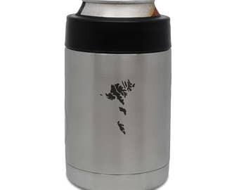 Faroe Islands Stainless Steel Beverage Cooler, Beer Cooler, Beer Hugger, Drink Sleeve