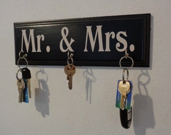Mr. & Mrs. Key Hangers, Key Hanger, Car Keys Hanger, Keys Hook, Car Keys Hook, His Car Key Hanger, Her Car Key Hanger, His Hers Key Hooks,