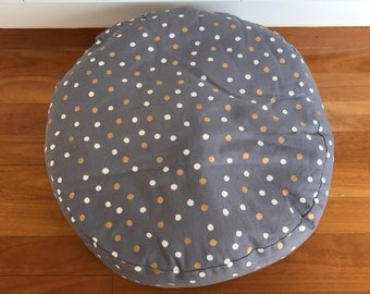 White & Gold spotted Dog Bed