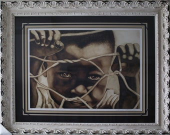 Forbidden innocence  Is Limited Edition - By Kenneth Gatewood,Framed and Matted ,African American Art.