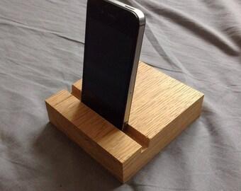 Reclaimed wood  iPhone/Kindle/iPad Holder Handmade from oak