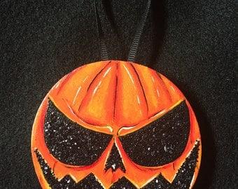 Sparkling Jack-O'Lantern Ornament
