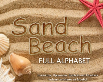 Sand Beach - Full Alphabet Clipart - 79 png files 300 dpi - Arena de Playa - Sand Letters - Sand Alphabet