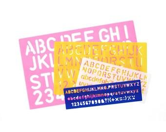 Lettering Number Stencils - 4 Font Sizes - Set of 4 pieces