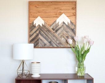 Wood Wall Art - Mountains