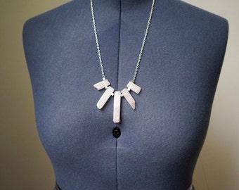 Rosie Rays - Natural Stone Rose Quartz Necklace