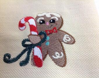 Weaved gingerbread dish towel