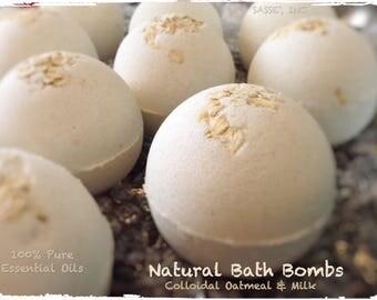 Bath Bomb Sale / Bath Fizzy / Bath Bombs / Natural Bath Bombs / Essential Oil Bath Bombs / Lavender / Chamomile /  5oz