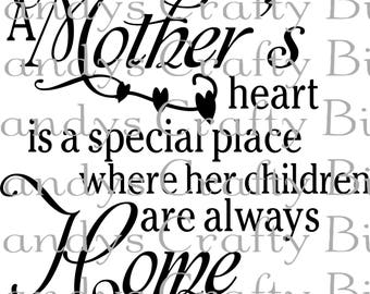 SVG and DXF  a Mothers Heart