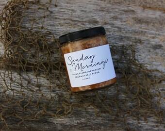 Coconut Salt Scrub | Ylang Ylang + Geranium